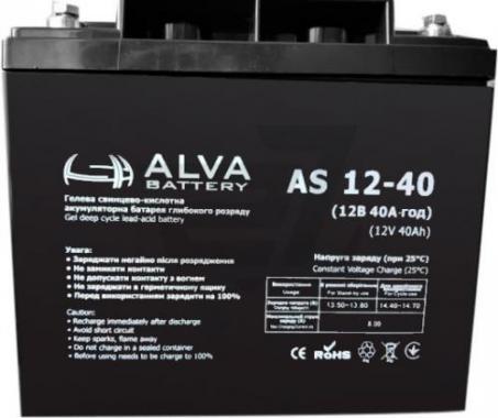 Аккумуляторная батарея AS12-40