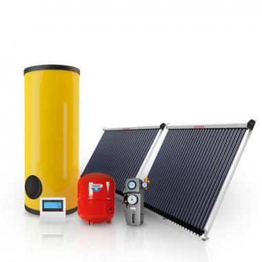 Гелиосистема на вакуумных коллекторах 300 л. горячей воды/сутки